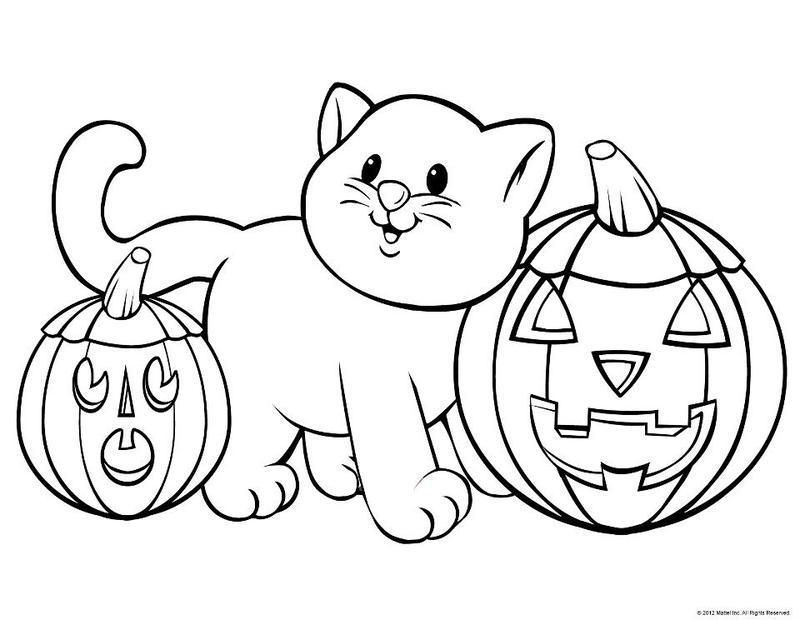 Coloriages halloween - Dessin chat halloween ...
