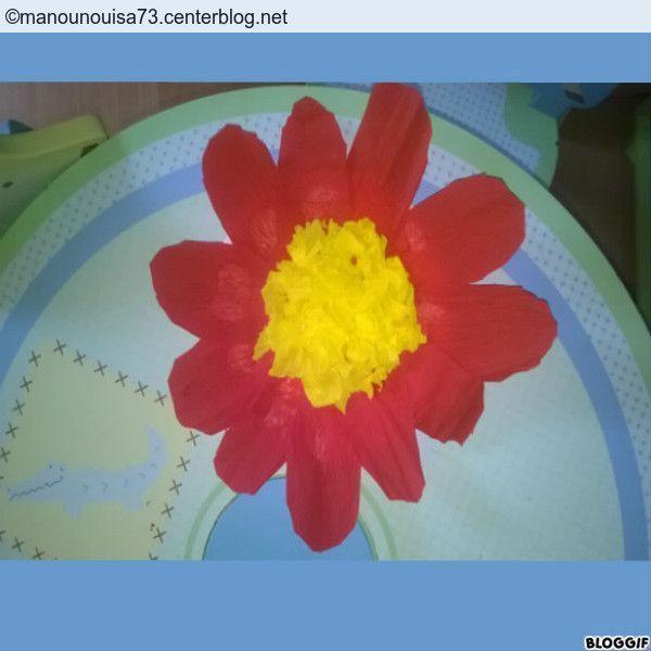 Fleur assiette en carton - Fleur en carton ...